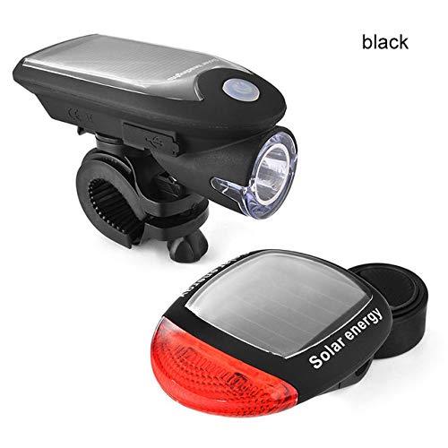 bester Test von solar fahrradlampe Kdyi LED Solarbetriebener Scheinwerfer Rücklichtkombination Fahrradlicht Warnlicht Solarbetriebenes Fahrrad…