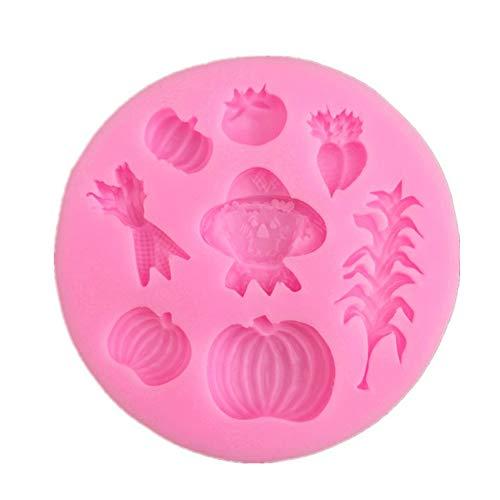 YCEOT taartschimmel van pompoenen, pompoenen, pompoengereedschap voor het versieren van snoepjes, silicagel, chocoladebonbonvorm