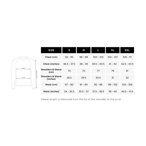 Proviz Men's Reflective Classic Cycling/Running Long Sleeve Top T-Shirt Hi Visibility, Yellow, XXL