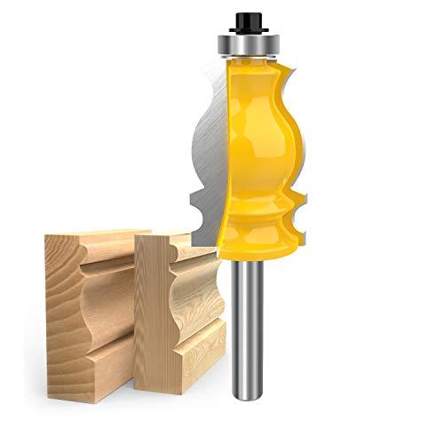 8mm Shank Architectural Molding Router Bit Carbide Sculpture Fishtail Cutter Woodworking Shape Cutter Tool By ROOCBIT