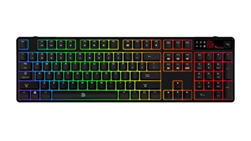 Tt eSPORTS Poseidon Z RGB USB Schwarz - Tastaturen (USB, Spielen, verkabelt, Schwarz, PC/Server, Standard)