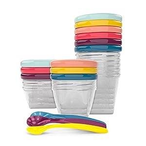 Babymoov Babybols A004310 – Set envases de conservación y cucharas (3 x 120 ml + 3 x 180 ml + 6 x 250 ml + 3 cucharas)