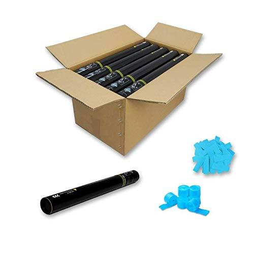 Packung mit 25 Konfettikanonen + Luftschlange manuell 50 cm   24/48H arbeitsfähig   #WeLoveConfeti hellblau