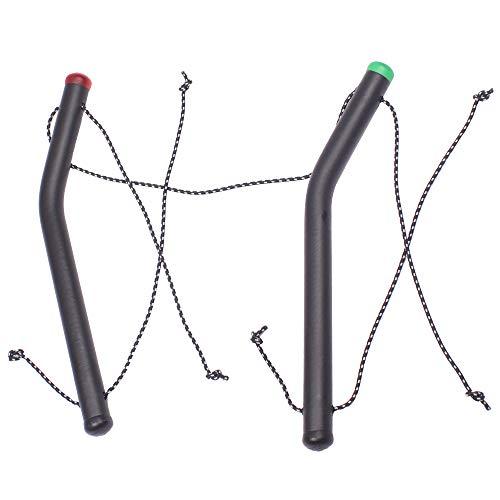 Wolkenstürmer Vierleiner Handles / Quadhandles / 4-Line Kite Handles mit Verbindungstampen ideal für Vierleiner Lenkmatten, Kites, Lenkmatten Zubehör
