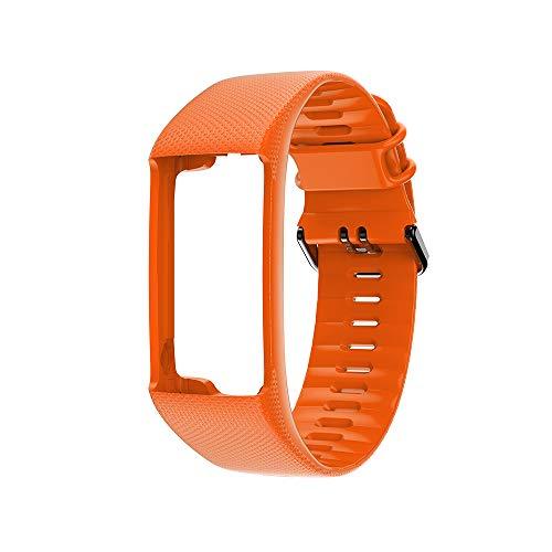 HNQH Correas de reloj compatibles con Polar A360 A370, correas de silicona suave y transpirable para reloj deportivo inteligente (235 mm, 22 mm)