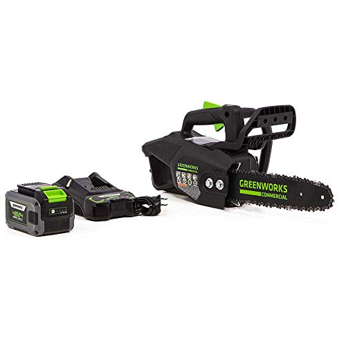 GreenWorks Commercial 48TH12 48V 12' Cordless Li-Ion Top Handle Chainsaw Kit