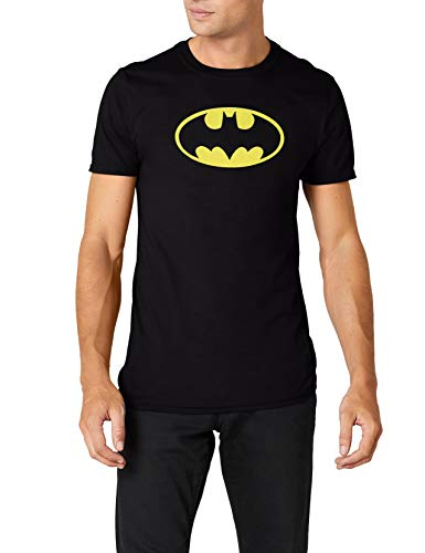 Collectors Mine Herren T-Shirt BATMAN-LOGO, Gr. Large, Schwarz