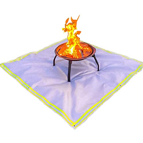 Bettying - Esterilla para fuegos (59 pulgadas, resistente al fuego, para patios al aire libre)