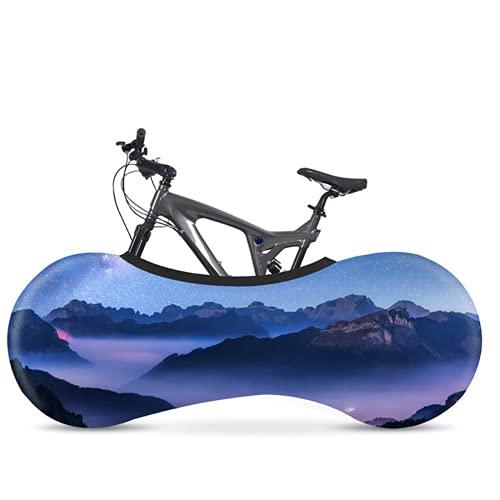 Cubierta protectora para bicicleta de carretera de la serie del paisaje de tela elástica cubierta de polvo para interiores adecuado para bicicletas de 26 a 28 pulgadas