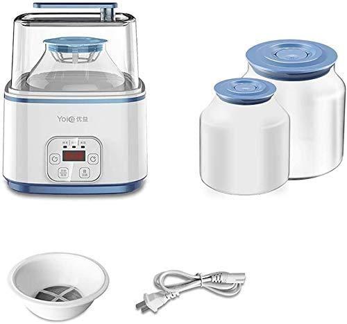 YZHM Joghurt-Maschine, Digitalanzeige, Auto Timer mit kostenlosen Lids: Perfekt für Hausgemachte Baby-Joghurt, Kinderjoghurt, oder Grab and Go Frühstück