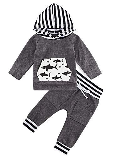 Kids4ever Baby Jungen Babykleidung 3D Bunte Hoodie Tops and Hosen Bekleidungsset Birthday Christmas Herbst Winter Jumpersuit Outfits für 6-12 Monat