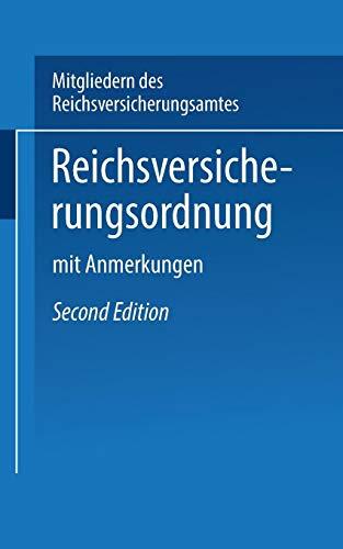 Reichs-versicherungsordnung: Mit Anmerkungen PDF Books