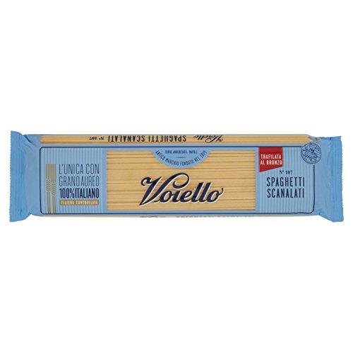 Voiello Pasta Spaghetti Scanalati N.107, Pasta Lunga di Semola Grano Aureo 100% - 500 g
