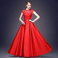 ドレス パーティードレス ウェディングドレス カラードレス ステージドレス Aライン マーメイド レディース aruka_angie S レッド