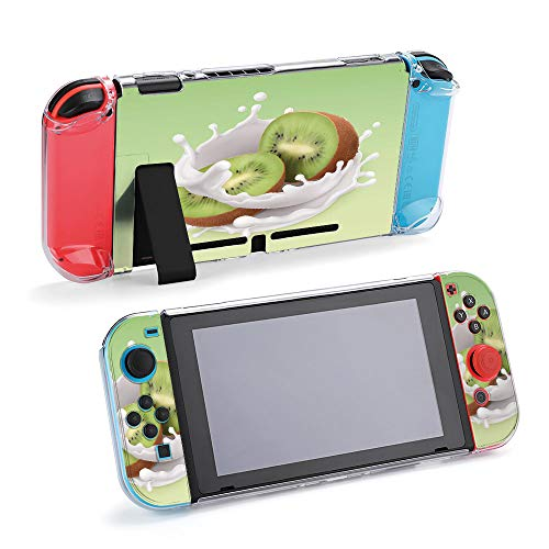 SUPNON Carry Case Compatible with Nintendo Switch, Ultra Slim Hard Shell, Protective Carrying Case for Travel - Kiwi Fruit and Milk Splash. Fruit and Yogurt Design25670