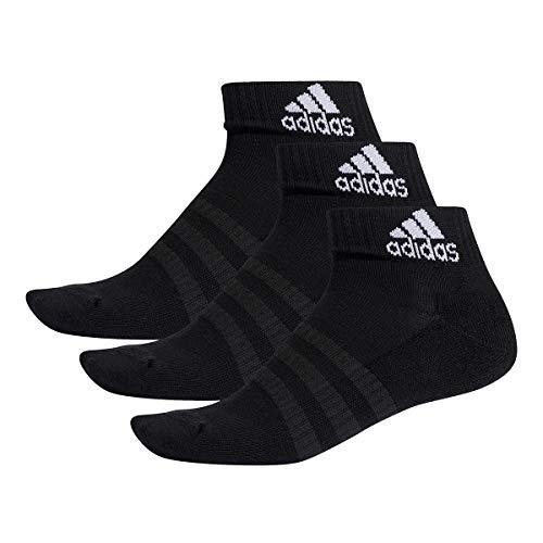 adidas 3 Paar Performance Sneaker/Quarter Socken Unisex Kurzsocke, Farbe:Black, Socken & Strümpfe:43-45