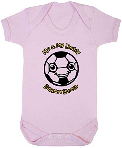 Hat-Trick Designs - Burton Albion Football Baby Babygrow/Vest/Bodysuit/Romper-3-6M-Pink-Me & My-Unisex Gift
