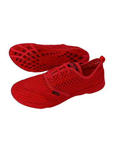 Wave Runner Men's Water Shoes - Quick Drying Performance and Travel Aqua Sneakers (Red, Numeric_11)