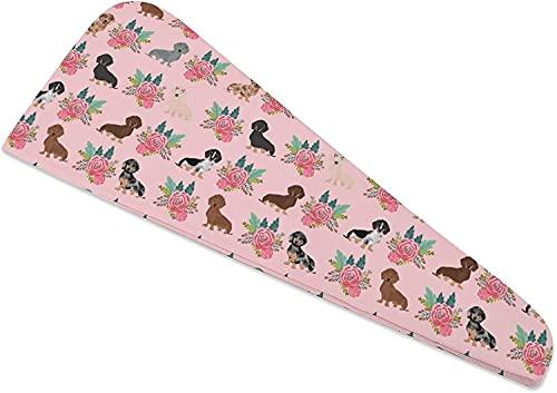 Haartrocknerhandtücher, Vintage-Blumenturban für DryShower Cap Hair Turban zum Trocknen von gelocktem, langem, dickem Haar, schnell magischer Trockner