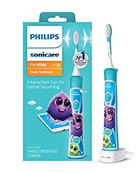 Philips Sonicare for Kids Bluetooth Connected Rechargeable Electric Toothbrush Interactive for Better Brushing Aqua