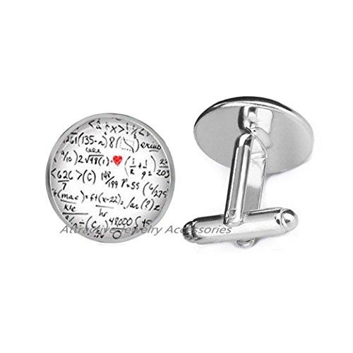 Wkloavmg Mathematical Symbol Number Cufflinks Math jewelry Cufflinks Cuff Links jewelry Maths jewellery number Cufflinks Mathematics Symbol Cuff Links Teacher,QK061 (Q1)