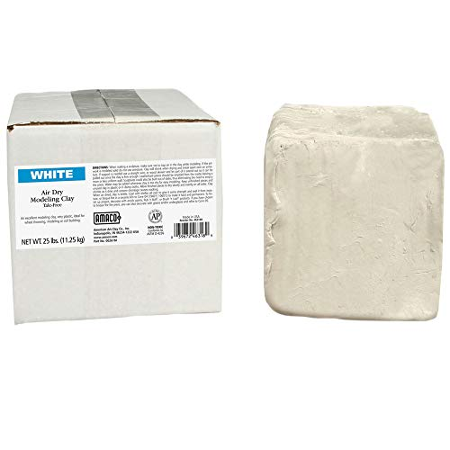 AMACO AMA46318R Air Dry Clay, 25 lbs. , White (Color may vary)
