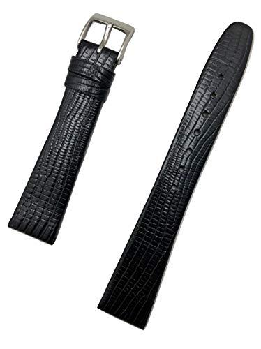 Uhrenarmband aus echtem Leder, 18 mm, elegant, flach, Eidechsen-genarbt, Ersatzarmband, das jeder Uhr neues Leben bringt