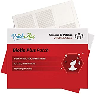 Sponsored Ad - Biotin Plus Topical Patch for Hair, Skin, and Nails by PatchAid (12-Month Supply)