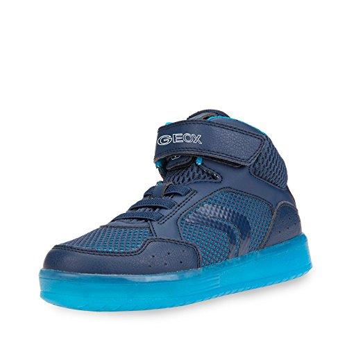 Geox Jungen J KOMMODOR Boy C Hohe Sneaker, Blau (Navy/Lt Blue), 28 EU