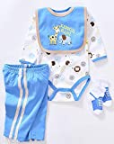 Pedolltree Reborn Dolls Clothes Boy 22 inches Blue Outfits Set for 20-23 inch Newborn Baby Boy Dolls Clothing Accesories