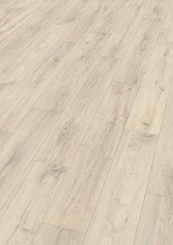 EGGER Home Laminat hell grau Holzoptik - Kurimo Eiche  EHL014 (8mm, 1,994m²) Klick Laminatboden | Bodenbelag