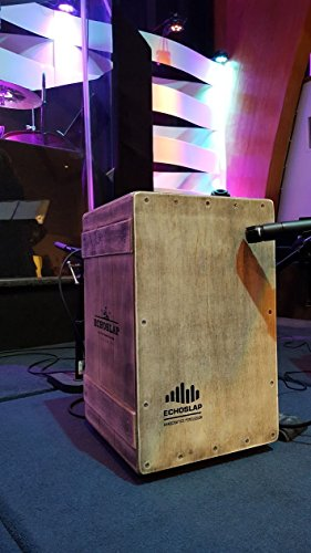 Echoslap Vintage Crate Cajon -Vintage Light, Hand Crafted, Siam Oak Body, Maple Front Adjustable Snare