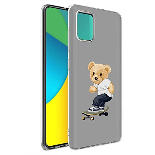 TalkingCase TPU Phone Case for Samsung Galaxy A71 4G(Not Fit A71 5G), Thrasher Teddy Bear Print, Light Weight,Flexible,Soft Touch,Anti-Scratch, Designed in USA