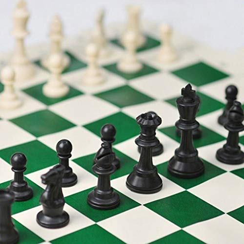 Chess Game High 97mm 77mm 64mm Middeleeuws Schaak, No Schaakbord 32 Chesses Pieces Kinderen Speelgoed Playing Game (Color : 77mm)