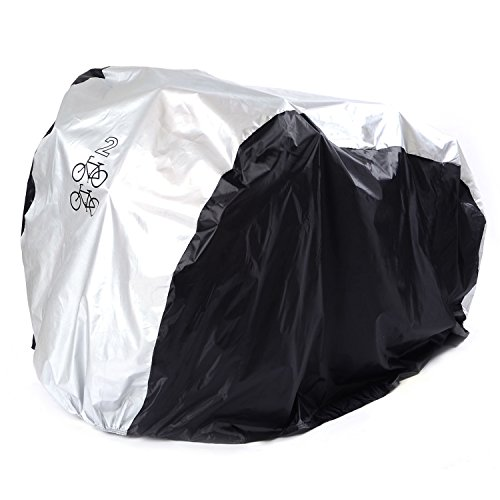 SAVFY Bike Cover for 2-Bike, 180T Outdoor Waterproof Bicycle Cover for Mountain Bike, Road Bike
