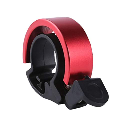 TANSTAN Timbre para manillar de bicicleta, aleación de aluminio, alarma de seguridad para bicicleta, accesorio para bicicleta de carretera, color rojo