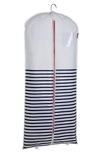 COMPACTOR Housse Longue pour Vêtements, Fermeture Zippée Anti-Poussière, Bleu et Blanc \