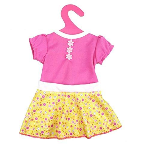 lulongyansf Mode-Kleid für 18-Zoll-Amerikaner 43 cm Born Baby Puppe Kleidung Accessoires Generationen Geburtstag des Mädchens Geschenk