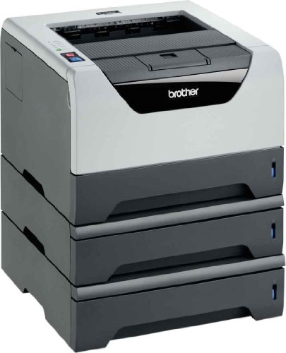 Brother HL-5350DN2LT Monochrome Laserdrucker (Duplex, 1200 x 1200 dpi, LAN/WLAN) schwarz