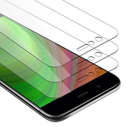 Cadorabo 3X Panzerglasfolie für Huawei NOVA 2 - Schutzfolie in KRISTALL KLAR - 3er Pack Gehärtet (Tempered) Bildschirmschutz Glas in 9H Festigkeit mit 3D Touch Kompatibilität