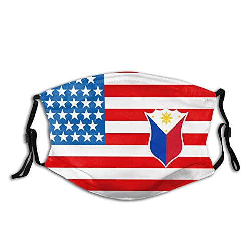 Tribal Philippines Filipino Sun And Stars Flag Unisex Face Mask With Filter For Adult, Reusable Mouth Face Cover Outdoor