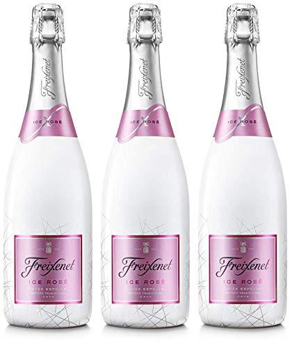 Freixenet - Ice cava rosado botella 75 cl - Pack de 3 botellas - 2250 ml
