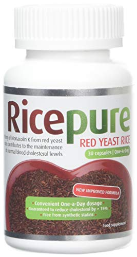 RicePure Red Yeast Rice Food Supplement Capsules, 30 g