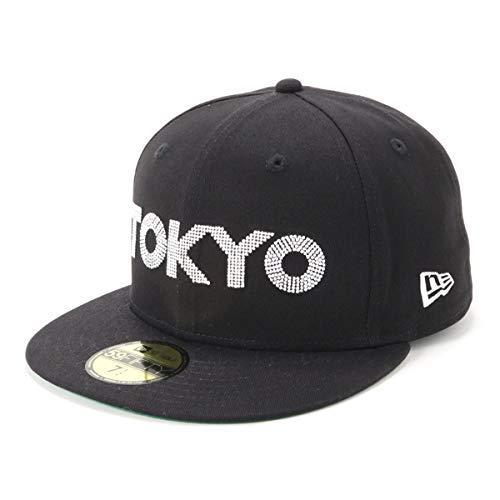 [ニューエラ] キャップ 59FIFTY TOKYO ロゴ 18 グリーンアンダーバイザー GF 5950 TKY ブラック 12541385 58.7 cm