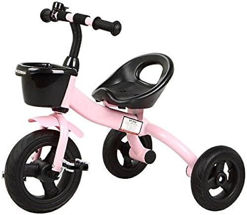 QXMEI Kinder Dreirad 2 Bis 6 Jahre Alt Pedal Fahrrad,Rosa