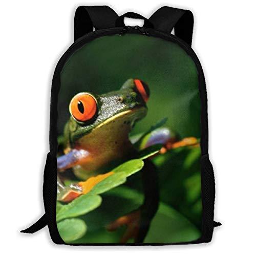 XCNGG Peace Frog Tree Gedruckter Reiserucksack, wasserdichte, leichte Laptoptasche mit Zwei Seitentaschen