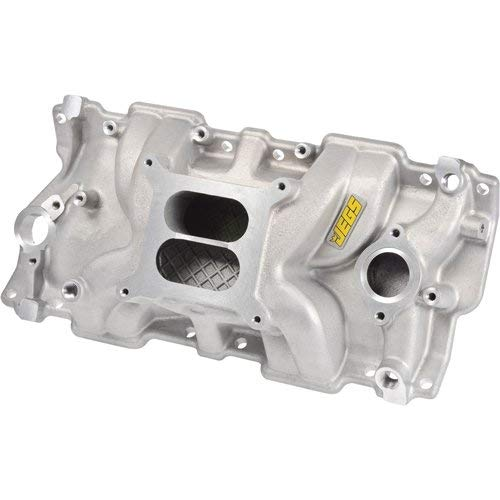 JEGS Small Block Chevy 1955-1986 Intake Manifold | Non-EGR Design | Idle - 5500 RPM Power Range | Cast Aluminum | Square Bore Carburetor Mounting Pad