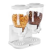 Contenitori da 3,5 l Compatibile con ciotole con profondità fino a 7 cm Chiusura ermetica In plastica trasparente Vaschetta in argento cromato per raccogliere briciole o gocce di latte