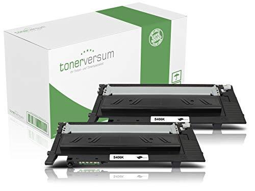 2 Toner kompatibel zu Samsung CLT-K406S Schwarz Druckerpatrone für CLP 360 365 Xpress C410w C460w C460fw CLX 3300 3305 Laserdrucker
