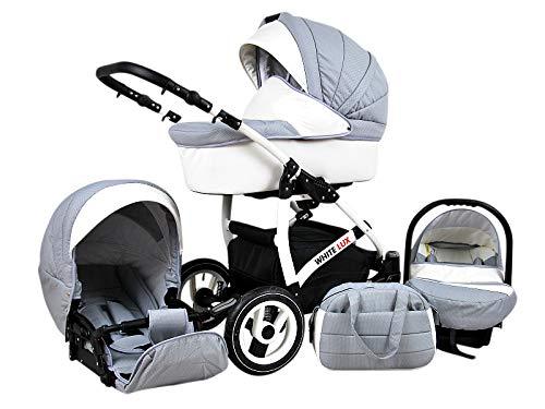 Cochecito de bebe 3 en 1 2 en 1 Trio Isofix silla de paseo New L-Go by SaintBaby negro /& beis 3in1 con Silla de coche
